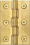 "Heritage Brass HG99-345-NB Hinge Brass with Phosphor Washers 3"" x 2"" Natural Brass finish"