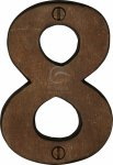"M.Marcus RBL351 8 Solid Bronze Numeral 8 Face Fix 76mm (3"")"