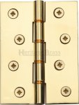 "Heritage Brass PR88-410-PB Hinge Brass with Phosphor Washers 4"" x 3"" Polished Brass finish"