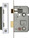 "York YKBL2-PC&PN Bathroom Lock 2 1/2"" (from edge of door to back of lock) Polished Chrome/Nickel Finish"