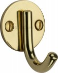 Heritage Brass V1064-PB Single Robe Hook Polished Brass finish
