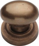M.Marcus RBL179 32 Solid Bronze Cabinet Knob Oval Design 32mm