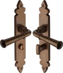 M.Marcus RBL5830 Solid Bronze Door Handle Bathroom Set Ludlow Design