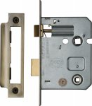 "York YKBL3-AT Bathroom Lock 3"" (from edge of door to back of lock) Antique finish"