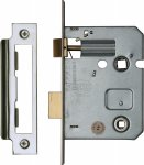 "York YKBL3-PC&PN Bathroom Lock 3"" (from edge of door to back of lock) Polished Chrome/Nickel Finish"