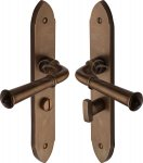 M.Marcus RBL4730 Solid Bronze Door Handle Bathroom Set Hadley Design