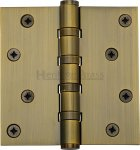 "Heritage Brass HG99-405-AT Hinge Brass with Ball Bearing 4"" x 4"" Antique Brass finish"