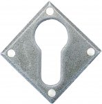 From The Anvil 33622 Pewter Diamond Euro Escutcheon - Pewter