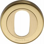 Heritage Brass V4010-SB Oval Profile Cylinder Escutcheon Satin Brass finish