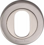Heritage Brass V4010-SN Oval Profile Cylinder Escutcheon Satin Nickel finish