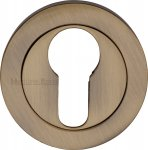 Heritage Brass V4020-AT Euro Profile Cylinder Escutcheon Antique finish