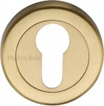 Heritage Brass V4020-SB Euro Profile Cylinder Escutcheon Satin Brass finish