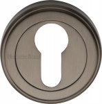 Heritage Brass V5020-MB Euro Profile Cylinder Escutcheon Matt Bronze finish