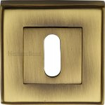Heritage Brass DEC7000-AT Key Escutcheon Square Antique finish