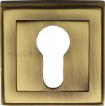 Heritage Brass DEC7020-AT Euro Profile Cylinder Escutcheon Antique finish
