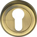 Heritage Brass ERD7020-AT Euro Profile Cylinder Escutcheon Antique finish