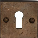 M.Marcus RBL159 Solid Bronze Key Escutcheon Square
