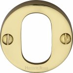 Heritage Brass V1013-PB Oval Profile Cylinder Escutcheon Polished Brass finish