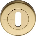 Heritage Brass V4000-SB Key Escutcheon Satin Brass finish