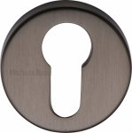 Heritage Brass V4008-MB Euro Profile Cylinder Escutcheon Matt Bronze Finish