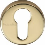 Heritage Brass V4008-PB Euro Profile Cylinder Escutcheon Polished Brass finish