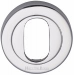Heritage Brass V4010-PC Oval Profile Cylinder Escutcheon Polished Chrome finish