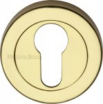 Heritage Brass V4020-PB Euro Profile Cylinder Escutcheon Polished Brass finish