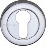 Heritage Brass V4020-PC Euro Profile Cylinder Escutcheon Polished Chrome finish
