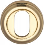 Heritage Brass V5010-PB Oval Profile Cylinder Escutcheon Polished Brass finish