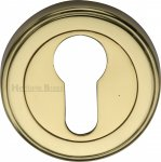 Heritage Brass V5020-PB Euro Profile Cylinder Escutcheon Polished Brass finish