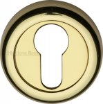 Heritage Brass V6724-PB Euro Profile Cylinder Escutcheon Polished Brass Finish