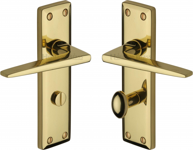 Heritage Brass KEN6830-PB Door Handle for Bathroom Kendal Design ...