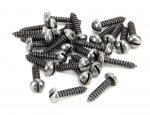 "From The Anvil 33431 Pewter 8 x 3/4"" Round Head Screws (25) - Pewter"
