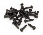From The Anvil 33403 Black 4 x 1/2'' Round Head Screws (25) - Black