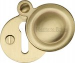 Heritage Brass V1020-SB Covered Keyhole Round Satin Brass finish