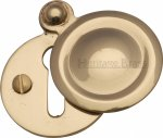 Heritage Brass V1020-PB Covered Keyhole Round Polished Brass finish
