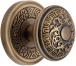 Heritage Brass AYD1324-AT Mortice Knob on Rose Aydon Design Antique finish
