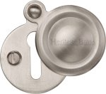 Heritage Brass V1020-SN Covered Keyhole Round Satin Nickel finish