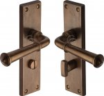 M.Marcus RBL3730 Solid Bronze Door Handle Bathroom Set Ashfield Design