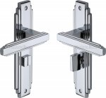 Heritage Brass AST5930-PC Door Handle for Bathroom Astoria Design Polished Chrome finish