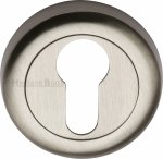 Heritage Brass V6724-SN Euro Profile Cylinder Escutcheon Satin Nickel Finish