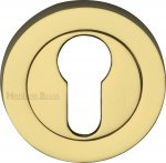 Heritage Brass RS2004-PB Euro Profile Cylinder Escutcheon Polished Brass finish