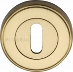 Heritage Brass ERD7000-SB Key Escutcheon Satin Brass finish