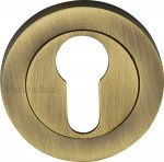 Heritage Brass RS2004-AT Euro Profile Cylinder Escutcheon Antique finish