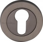 Heritage Brass RS2004-MB Euro Profile Cylinder Escutcheon Matt Bronze finish