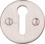 Heritage Brass V1010-SN Keyhole Escutcheon Satin Nickel finish