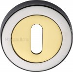 Heritage Brass V4000-CB Key Escutcheon Chrome & Brass finish