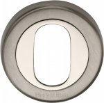 Heritage Brass V4010-MC Oval Profile Cylinder Escutcheon Mercury finish