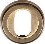 Heritage Brass V5010-AT Oval Profile Cylinder Escutcheon Antique finish