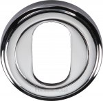 Heritage Brass V5010-PC Oval Profile Cylinder Escutcheon Polished Chrome finish